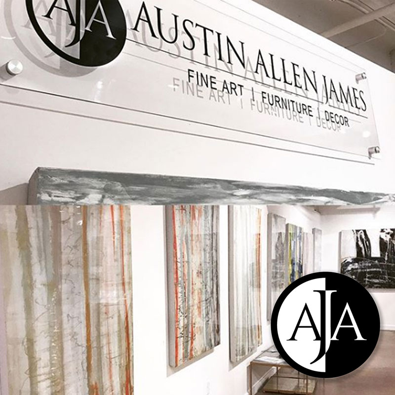 Austin Allen James Fine Art and Furniture - Complete branding by Gail Gonzales of Evolve Your Brand