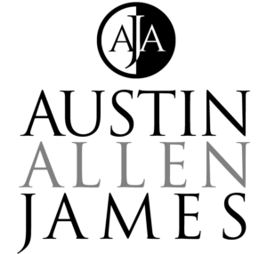 Austin Allen James logo by Gail Gonzales of Evolve Your brand