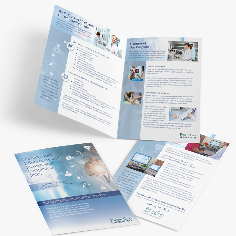 Patient Care Medical Devices branding and collateral
