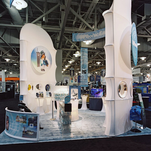 Tradeshow Booth Design and Collateral for a Hearing Health Company by Gail Gonzales