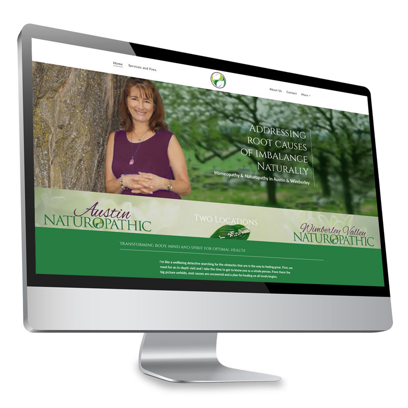 web design for holistic health professionals by Evolveyourbrand.online